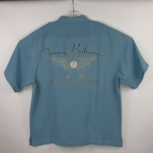 Tommy Bahama Silk Embroidered Camp Shirt 2006